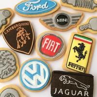 ◆外車エンブレムのアイシングクッキー - まんなのお菓子工房
