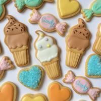◆ソフトクリームとキャンディのアイシングクッキー - まんなのお菓子工房