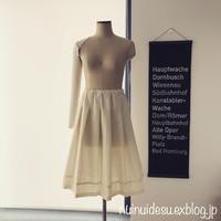 タックギャザースカート仮縫い - ブリュッセルで洋裁・手芸教室を検討奮闘中