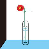 一輪挿し - Yenpitsu Nemoto  portfolio    ネモト円筆作品集