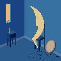 月の部屋 - Yenpitsu Nemoto  portfolio    ネモト円筆作品集