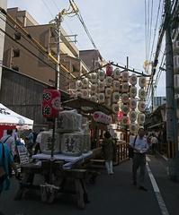 祇園祭先祭終了 - 新京極 カフェ はんなりかふぇ・京の飴工房 「憩和井(iwai)新京極店」