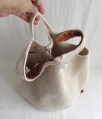 たこ糸の手提げ袋 - あけびのあ