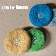 羊毛のおはなブローチ♪ - cotrium(コトリウム) 手作り雑貨(マト・とり・動物など)