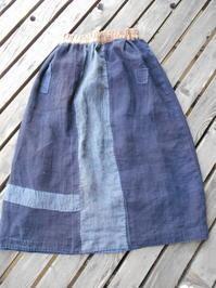 ゴリ麻野良着はスカートに・・どこが前でもOK - 藍ちくちく日記
