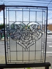 ドアパネル完成 - atelier GLADYS  ステンドグラス工房 作り手の日々