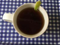 Earl Grey teaとペパーミントの花と秋色柏葉紫陽花 - いととはり