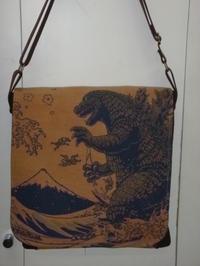 ゴジラ柄のバッグ - mackeyの手作り小物