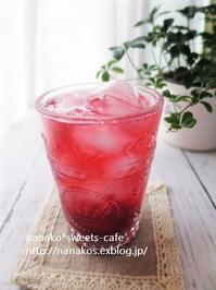 冷たいブラックベリージュース - nanako*sweets-cafe♪