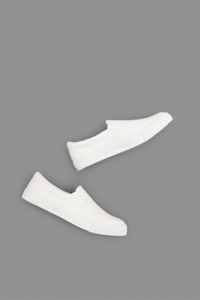 COMME des GARCONS HOMME  Leather Slip On (White) - un.regard.moderne