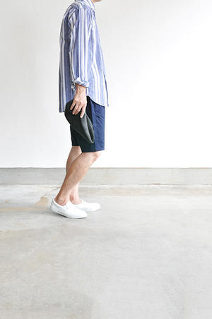 COMME des GARCONS HOMME Leather Slip On (White) -