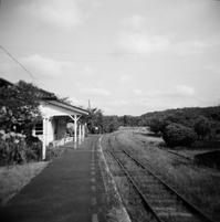 田舎の駅・・・HOLGA - 勿忘草・・時の記録