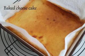 自家製酵母でベイクドチーズケーキ - 自家製天然酵母パン教室Espoir3n(エスポワールサンエヌ)料理教室 お菓子教室 さいたま