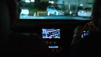 Looking out from inside the car there is a movie scene. - 阿野裕行 Official Blog