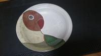 ボタンインコのお皿。 - 陶房呑器ののんびり日記