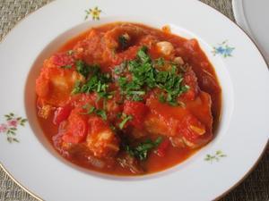 赤い食卓♪メバルのトマトシチュー&トマトとアボカドのサラダ♪ - やせっぽちソプラノのキッチン2