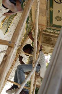 修復 シティ・パレスにて Jaipur - 鴉の独りごと