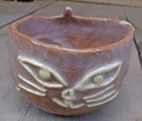 窯出し:キャットフェイスカップ 7月21日(金) - しんちゃんの七輪陶芸、12年の日常