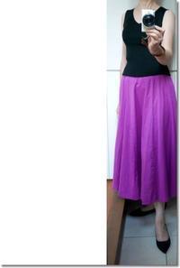 夏の夜はキレイ色スカートで - Less is more