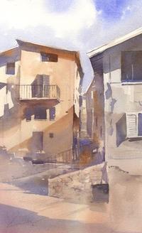 建物 水彩画 - はるさき水彩画blog