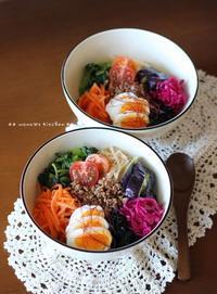 (((p(+ω+;`q)))アツスギ・・・・★ ビビンバ丼♪ - **  mana's Kitchen **