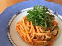大葉とトマトソースの冷製パスタ - まほろば日記