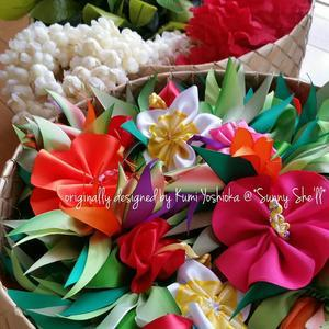manmaru Ribbon ~ Pili aloha Lei Making ~