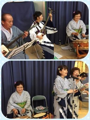 林中杉山民謡会様  盆踊り慰問 - 光野デイサービスセンターブログです。