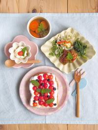 さくらんぼスモアトースト - 陶器通販・益子焼 雑貨手作り陶器のサイトショップ 木のねのブログ