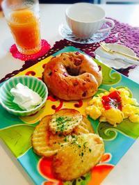 ベーグルで朝食☆ - Mi-Rinのおいしいもの日記