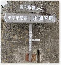 小淵沢 信玄棒道を行く - 番犬ハナとMIX犬サクのおさんぽ毎日