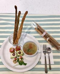 塩麹おつまみ3品とグリッシーニ - ミトンのマクロビキッチン