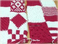 アフガン編みのクッション その2 - ルーマニアン・マクラメに魅せられて