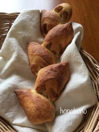 1つの生地でチーズパンとベーコンエピを作る - 天然酵母パン教室  ほーのぼーの