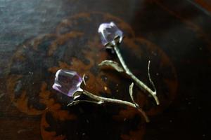 クリスタルのバラ2種 - スペイン・バルセロナ・アンティーク gyu's shop