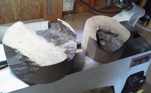 今日のウッドターニング……ニレ埋れ木 - 木遊人masamiの十勝lifelog