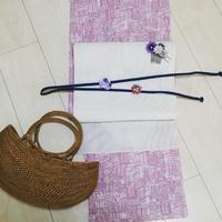 カスミソウの帯留め - つまみ細工 ヒイナゴト