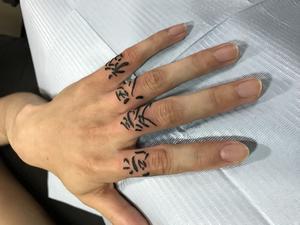 *漢字*ワンポイント*指*刺青*和彫り*タトゥー* - 2FACE TATTOO STUDIO JAPAN 千葉県木更津市 刺青処 聖針