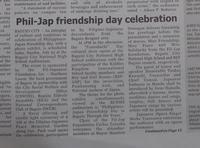 2017 バギオ日比友好月間イベントの関連 新聞記事など Phil-Japan Friendship events その3 - バギオの北ルソン日本人会 JANL