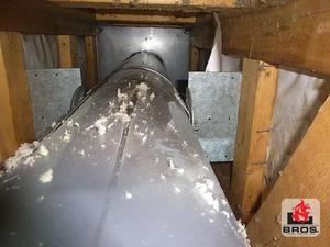 三重県 名張市 薪ストーブ 煙突囲い内ケイカル板張り工事 - BROS.奈良ブログ