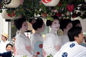 祇園祭・後祭 花傘巡行 舞妓とし恵美 - ちょっとそこまで