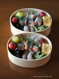 鮭の紫蘇海苔巻き ✿ おいしいコーヒー(๑¯﹃¯๑)♪ - **  mana's Kitchen **
