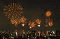 東京の夏花火一番乗り、そして全国の人気ランキング6位(第39回足立の花火) - 旅プラスの日記
