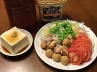 焼鳥サラダと冷やっこ。暑すぎる…!! - よく飲むオバチャン☆本日のメニュー