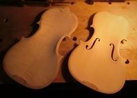 バイオリン板厚調整 - 村川ヴァイオリン工房