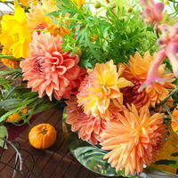 花時間さん秋号の撮影 ハロウィン 明日7月26日水曜午後のひきとりでイチエッタ - 一会 ウエディングの花