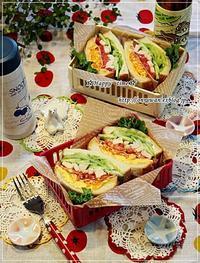 湯種食パンでわんぱくサンド弁当と今夜は土用の丑の日なので♪ - ☆Happy time☆