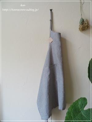 手作り 定番のリネンのエプロン** - &m *handmade with linen,cotton...*
