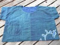 緑藍1.5巾153cm全部使いました・・暑いのに裏も付けて・・ - 藍ちくちく日記