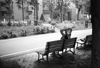 ランナーの一休みと酷暑の利権オリンピック - 照片画廊